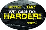 Black Cat Aukleber Sticker oval Battle Cat 12x8 cm